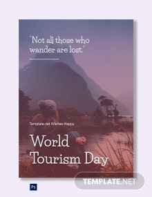 International Tourism Day Greeting Card Template