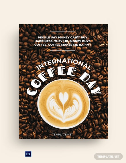 International Coffee Day Greeting Card