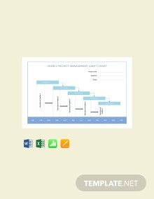 Free Yearly Project Management Gantt Chart Template