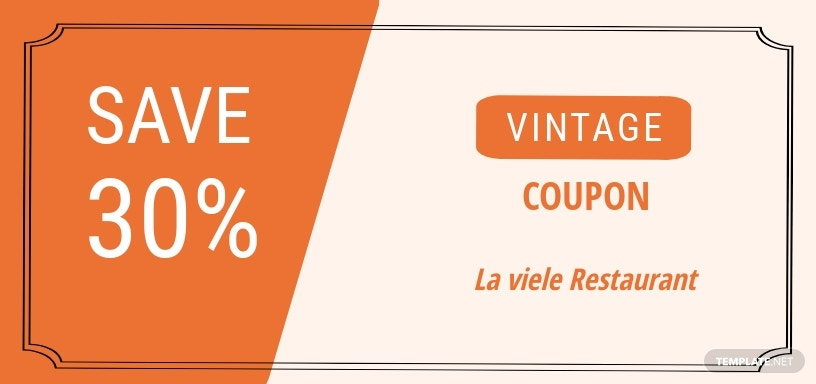 Vintage Blank Coupon Template