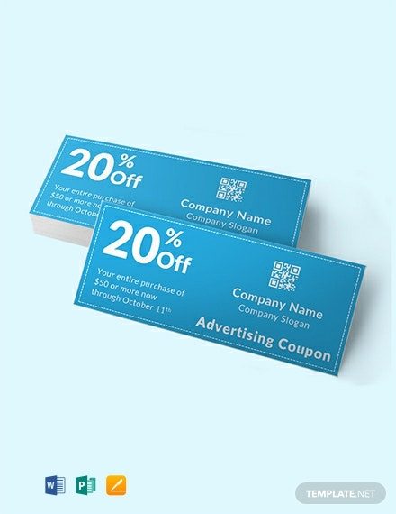 Free Blank Advertising Coupon Template
