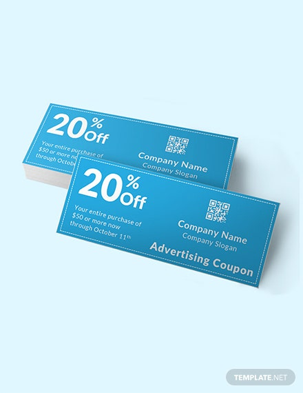 Blank Advertising Coupon Template