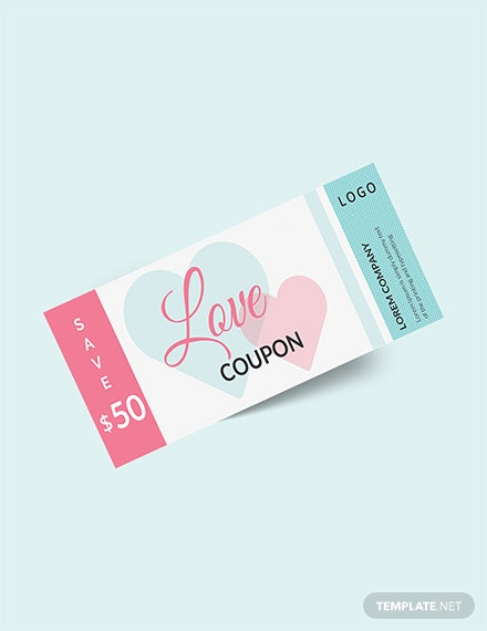 Love Blank Coupon Template