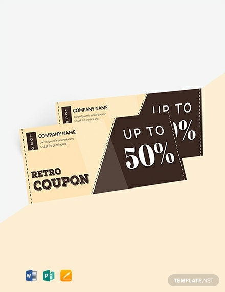 Free Retro Blank Coupon Template