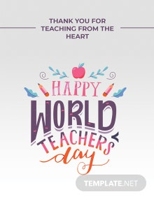 World Teachers Day Greeting Card