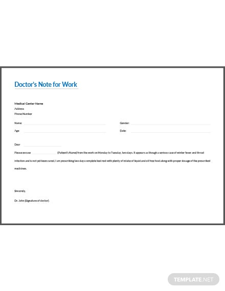 doctor u2019s excuse note template  download 53  notes in word