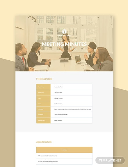 Free Elegant Meeting Minutes Template