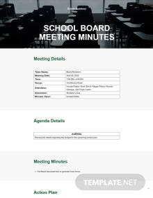 Free Sample School Board Meeting Minutes