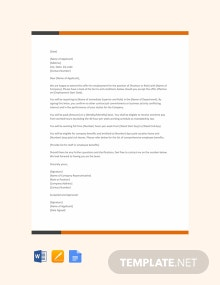 Free Mid-Career Job Offer Letter Template