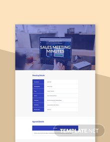Free Sales Meeting Minutes Template