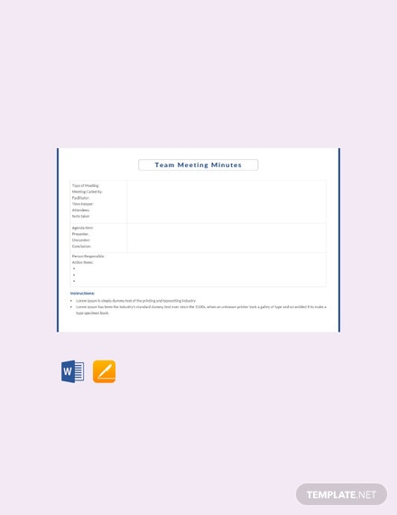 86 free apple pages meeting minutes templates download ready made