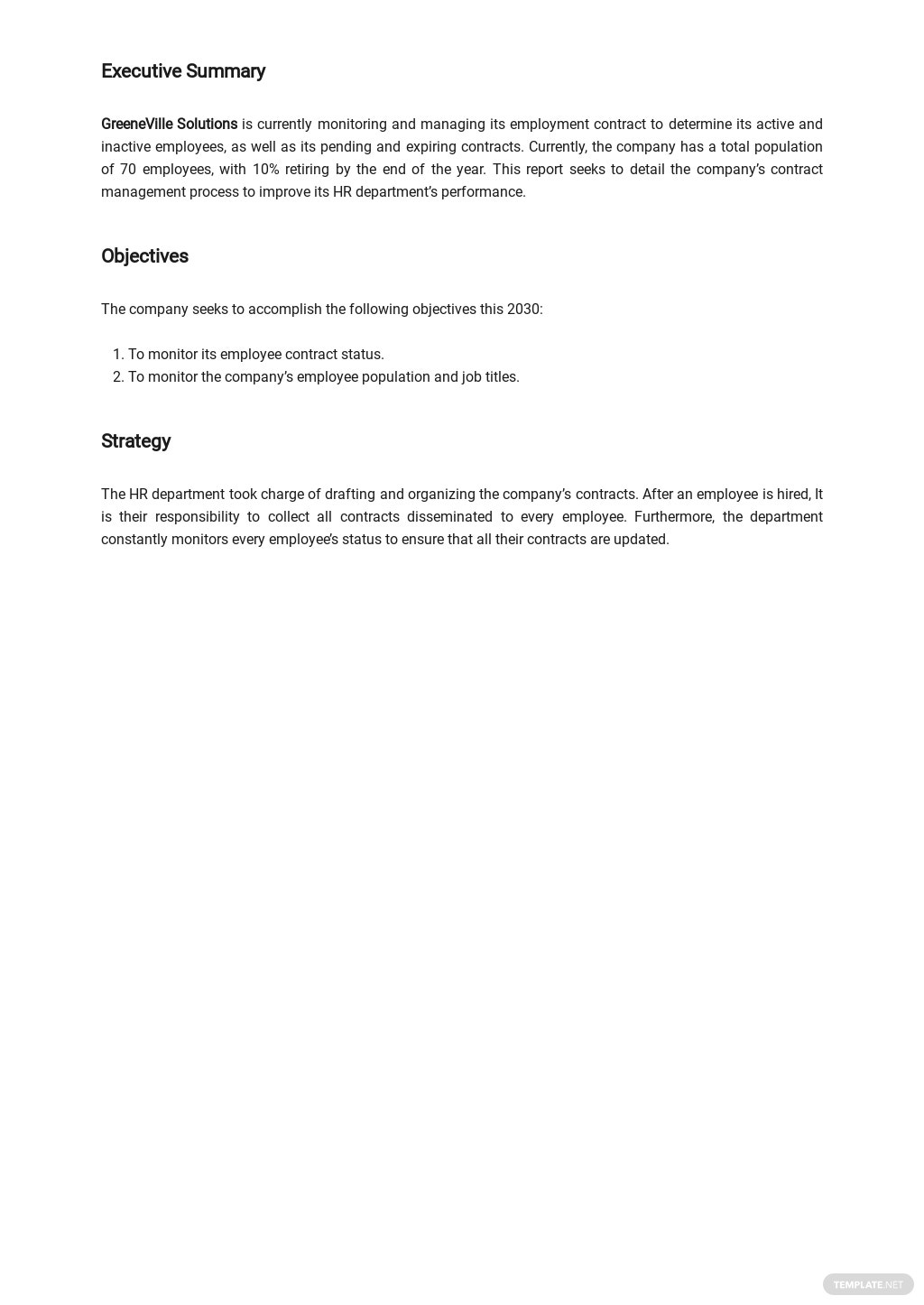 Free Contract Management Report Template 1.jpe