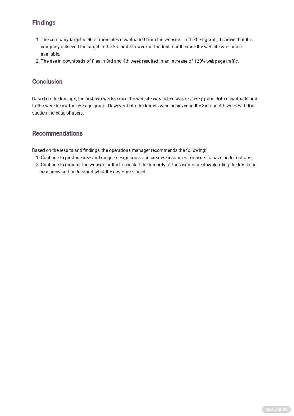 Free Monthly Project Management Report Template 3.jpe