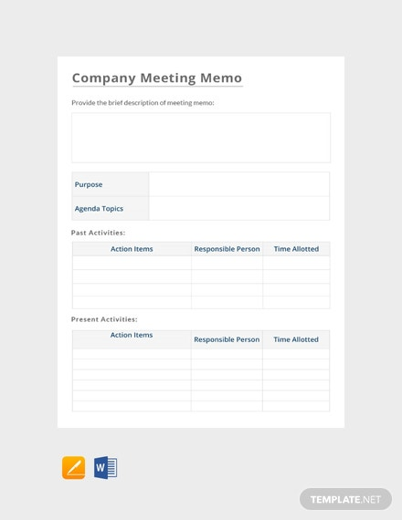 free staff meeting memo template  download 9  memos in word  apple pages  pdf