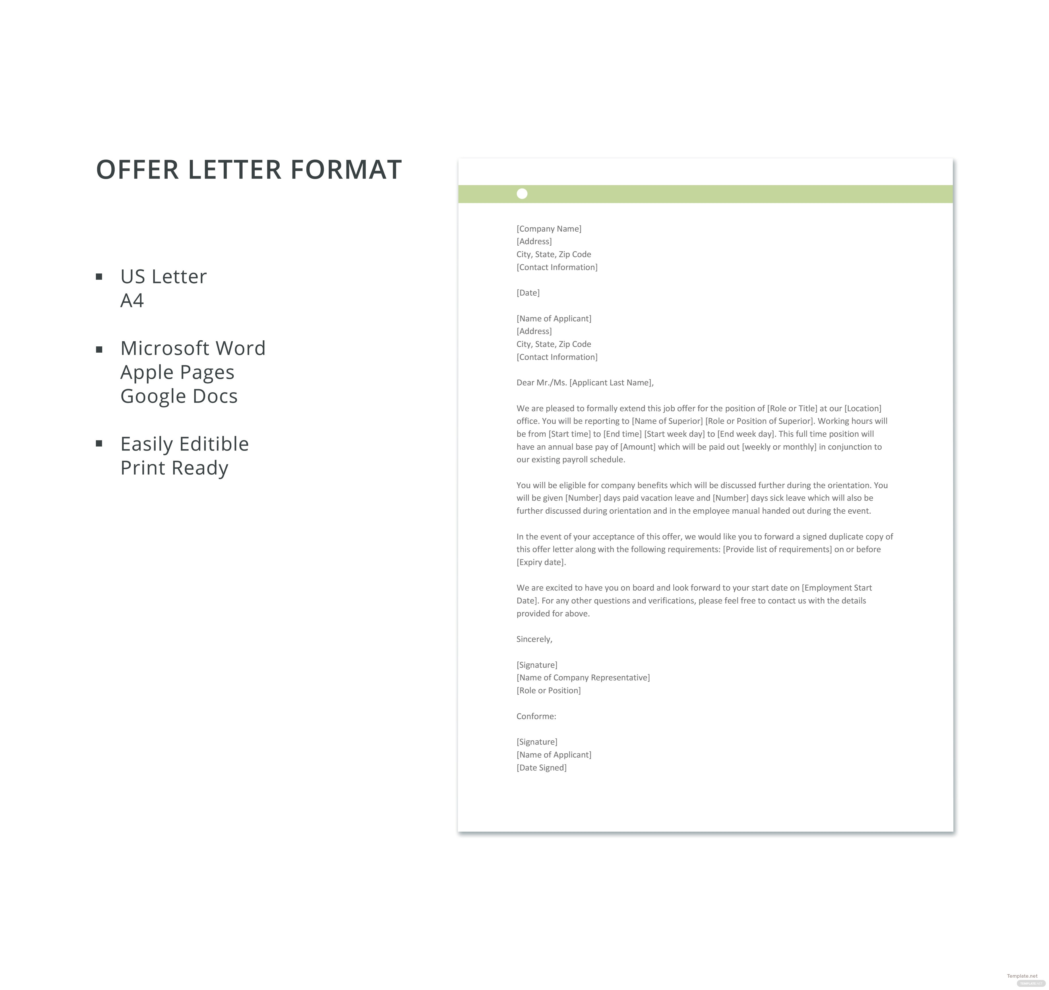 formal resignation letter offer letter format in microsoft word apple pages 1235