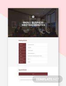 Small Business Meeting Minutes Template