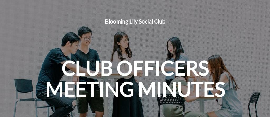 Social Club Meeting Minutes Template