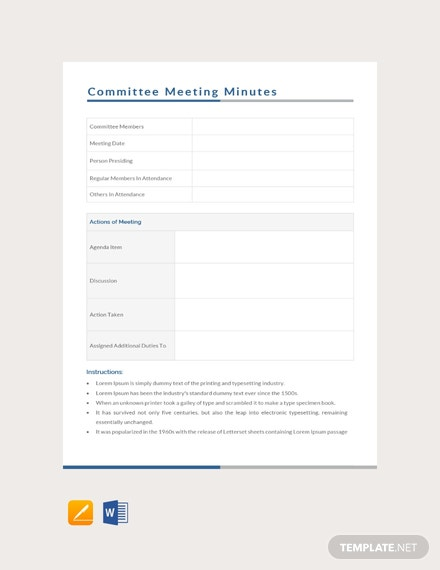 investment committee meeting minutes template download 65 meeting