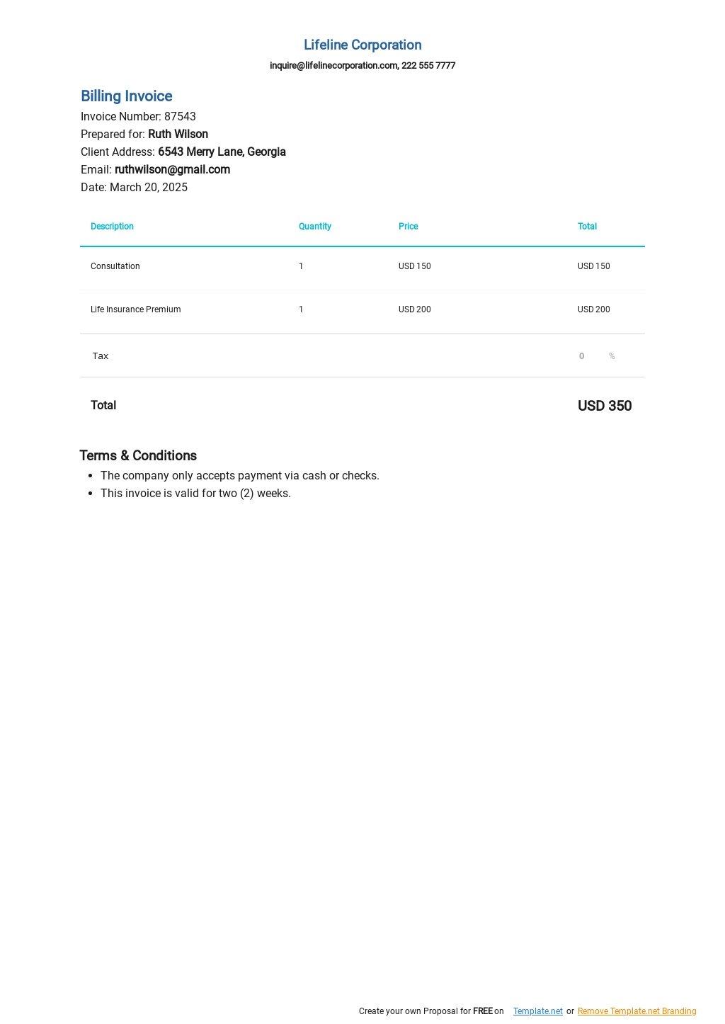 Billing Invoice Blank Spreadsheet Template.jpe