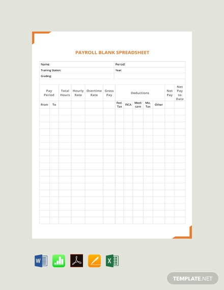 Free Payroll Spreadsheet Template Word Excel Apple