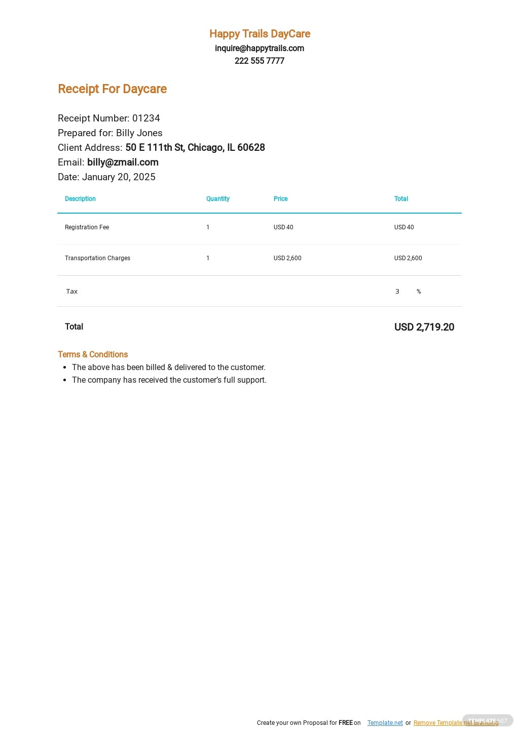 Receipt For Daycare Template.jpe