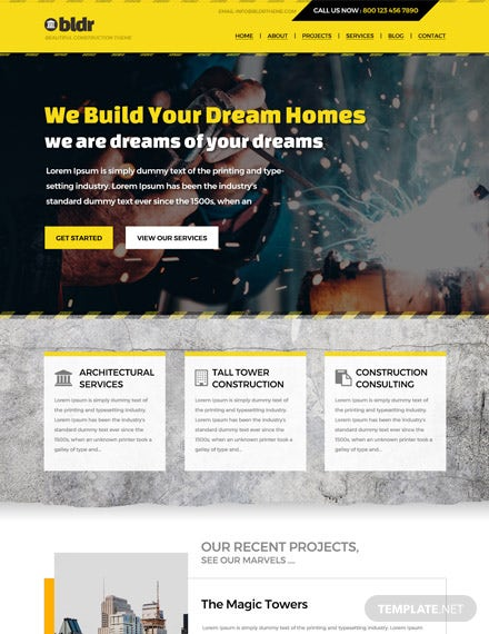 Construction Company HTML5/CSS3 Website Template