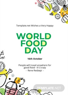 World Food Day Greeting Card