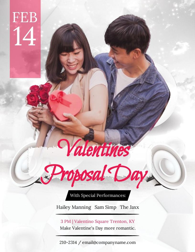 Valentine's Day Proposal Flyer