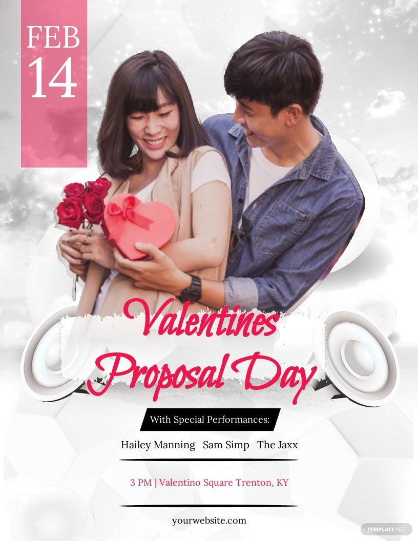 Valentine's Day Proposal Flyer Template