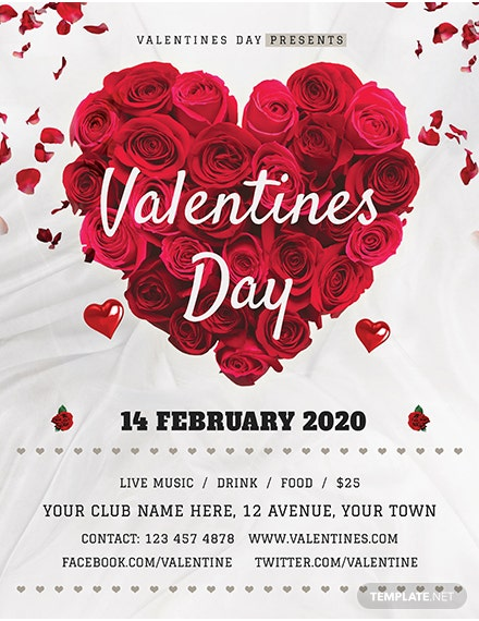 Valentine's Day Rose Flyer