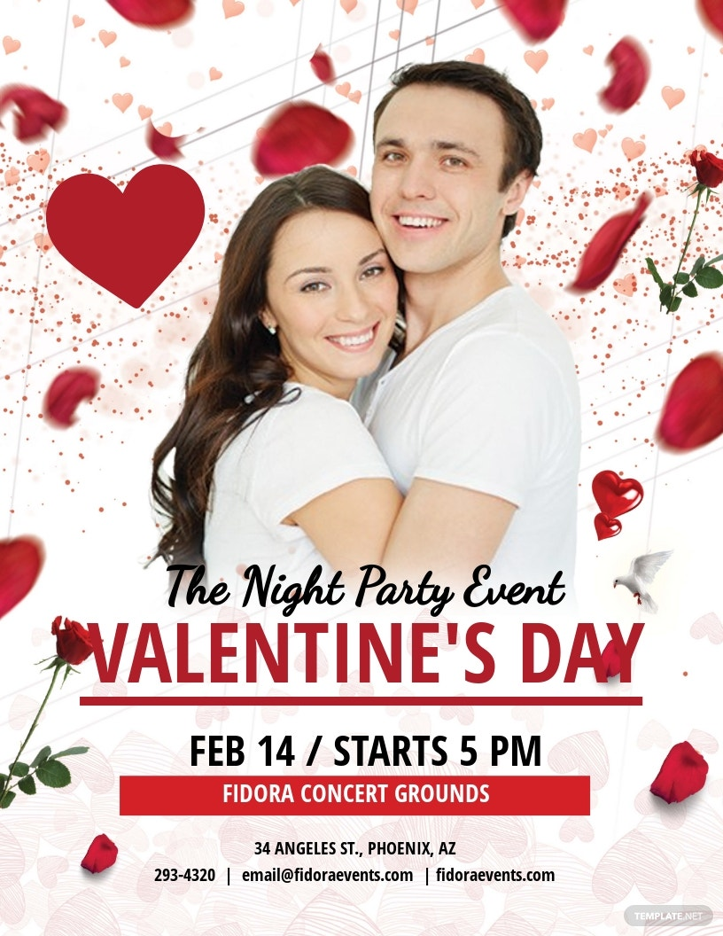FREE Valentine's Day Party Flyer Template