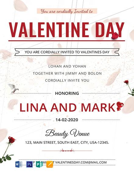 Valentines Day Invitation Card