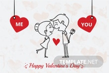 Elegant Valentine's Day Greeting Template