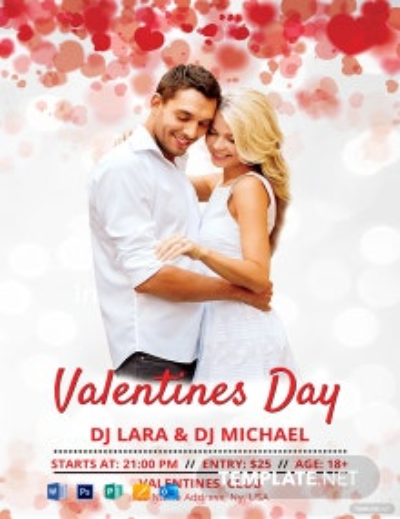 DJ Valentine Poster Template