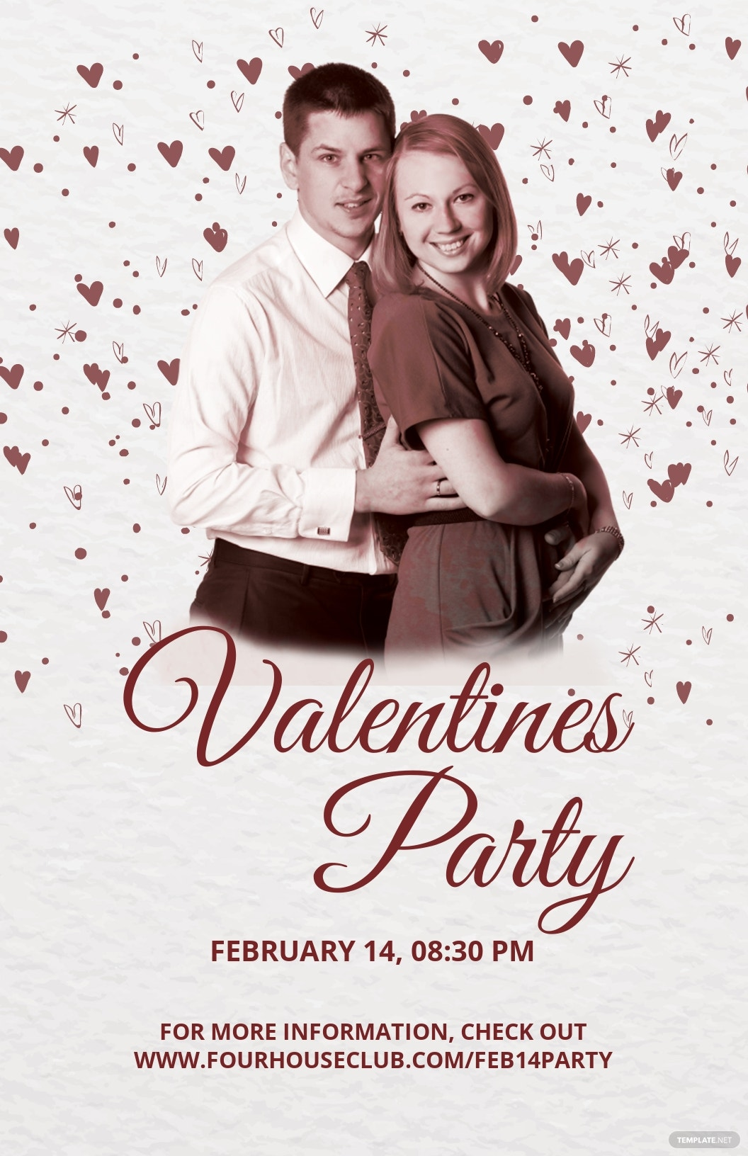 DJ Party Valentine Poster Template