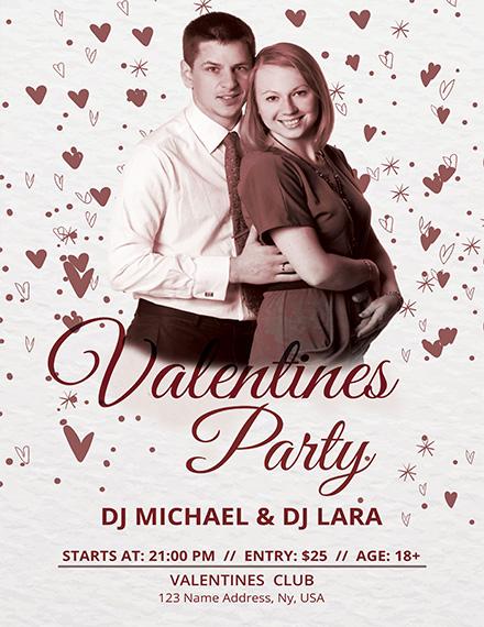 DJ Party Valentine Poster