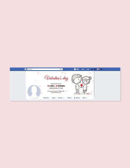 Cartoon Valentine Facebook Cover