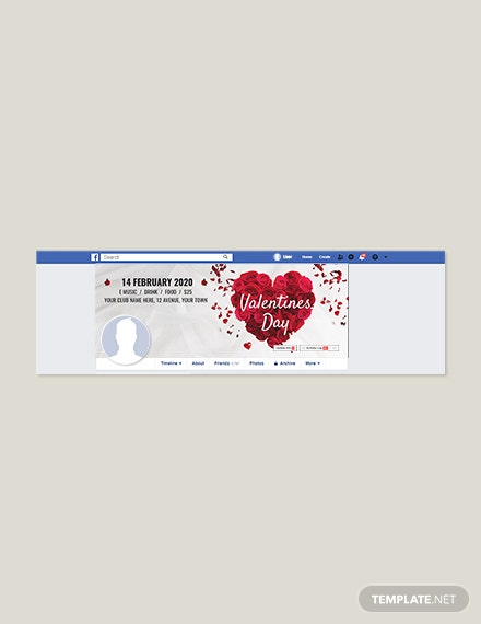 Simple Valentine's Day Facebook Cover