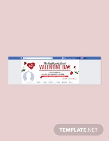 Editable Valentine's Day Facebook Cover