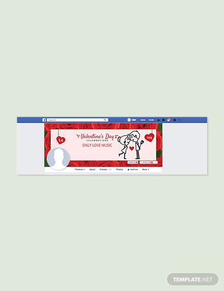 Printable Valentine's Day Facebook Cover