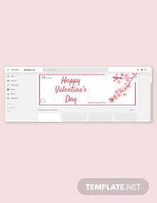 Valentine's Day Google Plus Template
