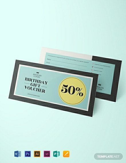 Simple Birthday Voucher Template