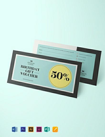 Simple Birthday Voucher Template
