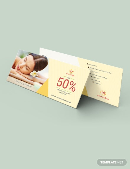 Spa Voucher Template