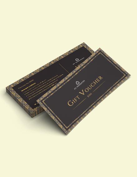 Sample Elegant Gift Voucher