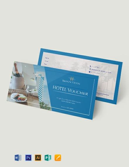 Hotel Voucher Template
