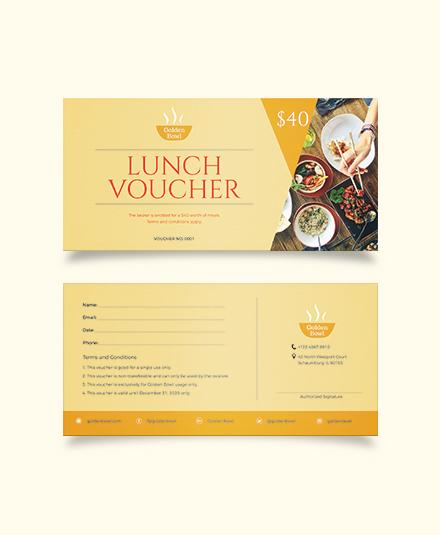 Lunch Voucher Template