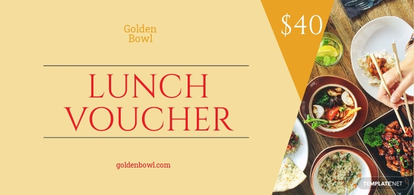 Lunch Voucher Template