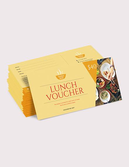 Sample Lunch Voucher