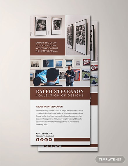 Free Exhibition Rack Card Template
